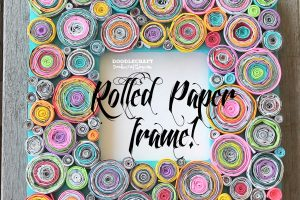 rolled paper upcycled frame diy with junk mail (4)-min
